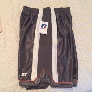 NWT Boys' Grey Striped Russell Athletic Shorts